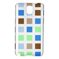 Colorful Green Background Tile Pattern Samsung Galaxy Note 3 N9005 Hardshell Case