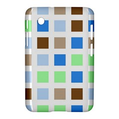 Colorful Green Background Tile Pattern Samsung Galaxy Tab 2 (7 ) P3100 Hardshell Case
