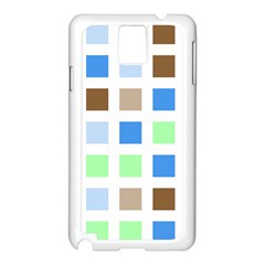 Colorful Green Background Tile Pattern Samsung Galaxy Note 3 N9005 Case (white)