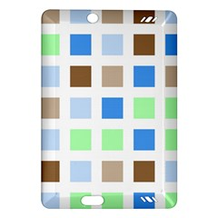Colorful Green Background Tile Pattern Amazon Kindle Fire Hd (2013) Hardshell Case