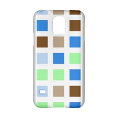 Colorful Green Background Tile Pattern Samsung Galaxy S5 Hardshell Case