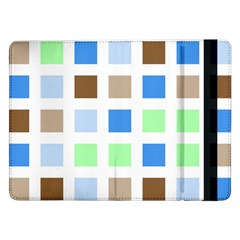 Colorful Green Background Tile Pattern Samsung Galaxy Tab Pro 12 2  Flip Case