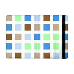 Colorful Green Background Tile Pattern Ipad Mini 2 Flip Cases