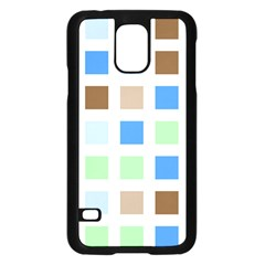 Colorful Green Background Tile Pattern Samsung Galaxy S5 Case (Black)
