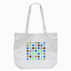 Colorful Green Background Tile Pattern Tote Bag (white)