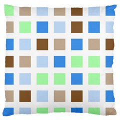 Colorful Green Background Tile Pattern Large Flano Cushion Case (one Side)