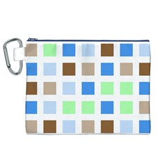Colorful Green Background Tile Pattern Canvas Cosmetic Bag (xl)