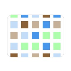 Colorful Green Background Tile Pattern Double Sided Flano Blanket (mini)