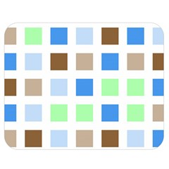 Colorful Green Background Tile Pattern Double Sided Flano Blanket (medium)