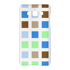 Colorful Green Background Tile Pattern Samsung Galaxy A5 Hardshell Case
