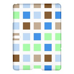 Colorful Green Background Tile Pattern Samsung Galaxy Tab S (10 5 ) Hardshell Case