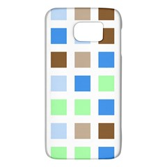 Colorful Green Background Tile Pattern Galaxy S6