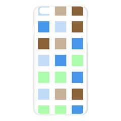 Colorful Green Background Tile Pattern Apple Seamless iPhone 6 Plus/6S Plus Case (Transparent)