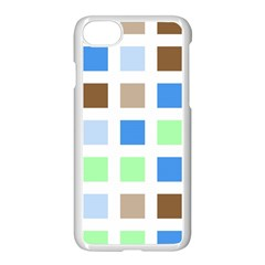 Colorful Green Background Tile Pattern Apple Iphone 7 Seamless Case (white)
