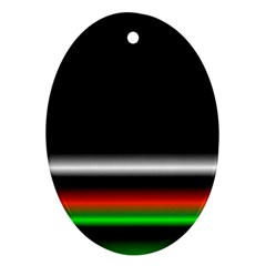 Colorful Neon Background Images Ornament (oval)