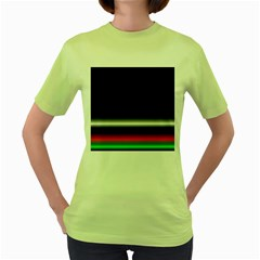 Colorful Neon Background Images Women s Green T Shirt