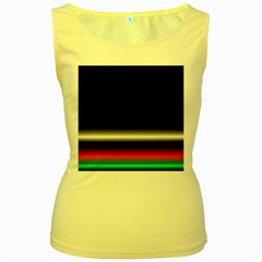Colorful Neon Background Images Women s Yellow Tank Top