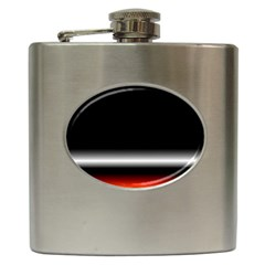 Colorful Neon Background Images Hip Flask (6 Oz)