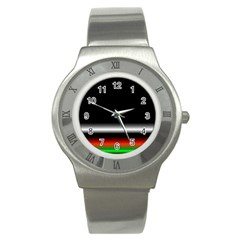 Colorful Neon Background Images Stainless Steel Watch