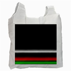 Colorful Neon Background Images Recycle Bag (two Side)