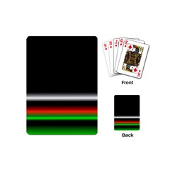 Colorful Neon Background Images Playing Cards (mini)
