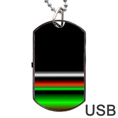Colorful Neon Background Images Dog Tag Usb Flash (two Sides)