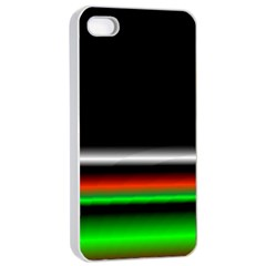 Colorful Neon Background Images Apple Iphone 4/4s Seamless Case (white)