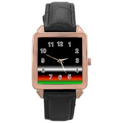 Colorful Neon Background Images Rose Gold Leather Watch