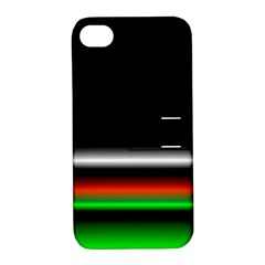 Colorful Neon Background Images Apple Iphone 4/4s Hardshell Case With Stand