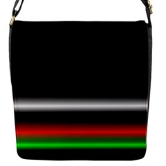 Colorful Neon Background Images Flap Messenger Bag (s)