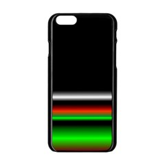 Colorful Neon Background Images Apple Iphone 6/6s Black Enamel Case