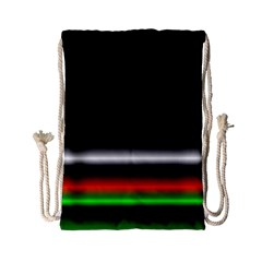 Colorful Neon Background Images Drawstring Bag (small)
