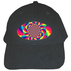 Colorful Psychedelic Art Background Black Cap