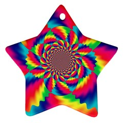 Colorful Psychedelic Art Background Ornament (star)