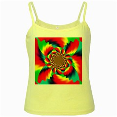 Colorful Psychedelic Art Background Yellow Spaghetti Tank