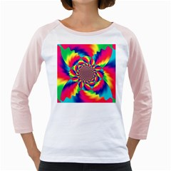 Colorful Psychedelic Art Background Girly Raglans