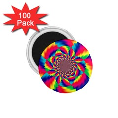 Colorful Psychedelic Art Background 1 75  Magnets (100 Pack)