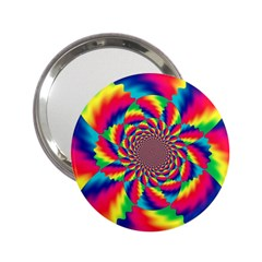 Colorful Psychedelic Art Background 2 25  Handbag Mirrors