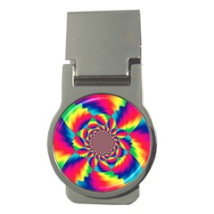 Colorful Psychedelic Art Background Money Clips (Round)