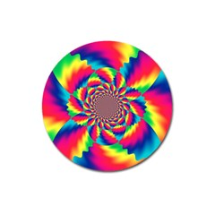 Colorful Psychedelic Art Background Magnet 3  (round)