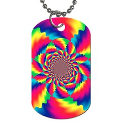Colorful Psychedelic Art Background Dog Tag (one Side)