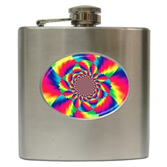 Colorful Psychedelic Art Background Hip Flask (6 Oz)