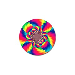 Colorful Psychedelic Art Background Golf Ball Marker