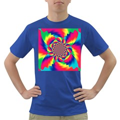 Colorful Psychedelic Art Background Dark T Shirt