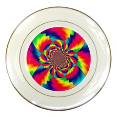 Colorful Psychedelic Art Background Porcelain Plates