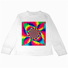 Colorful Psychedelic Art Background Kids Long Sleeve T Shirts