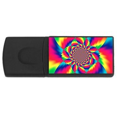 Colorful Psychedelic Art Background USB Flash Drive Rectangular (4 GB)