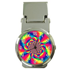 Colorful Psychedelic Art Background Money Clip Watches