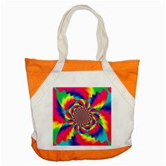 Colorful Psychedelic Art Background Accent Tote Bag