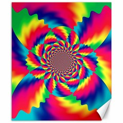 Colorful Psychedelic Art Background Canvas 8  X 10